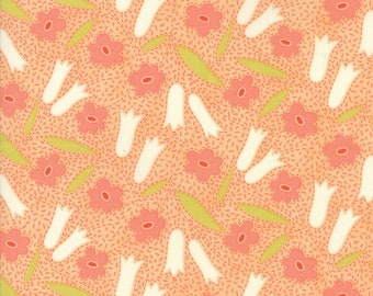 Ella and Ollie - Buttercups in Apricot: sku 20301-13 cotton quilting fabric by Fig Tree and Co. for Moda Fabrics