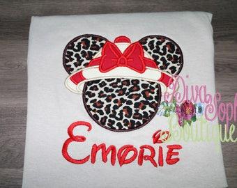 Safari Minnie Mouse Top- Cheetah Minnie Shirt - Animal Kingdom Shirt