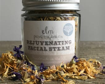 Organic Facial Steam. Rejuvenating. Herbal Steam. Face steam. Botanical Steam. Foot soak. Bath soak. Home Spa. Spa Gift. Bath Tea.