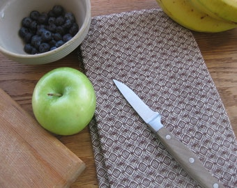 Brown and Natural Handwoven Kitchen Towels