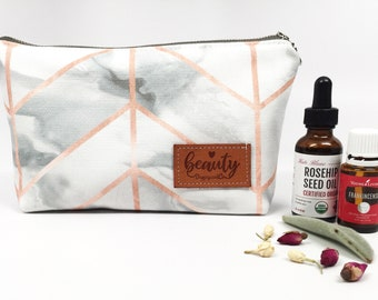 BEAUTY bag, Makeup bag, Essential Oil Bag, Cosmetic bag