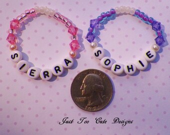 Newborn Twin Bracelet Set in Pink and Purple Custom Item