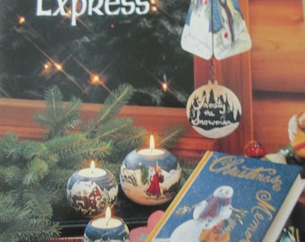 """K Tole painting """" North Pole Express"""" 1996 used booklet 48 pages"""