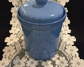 Vintage Blue Cookie Jar Canister Japan