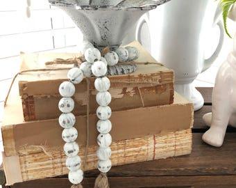 Farmhouse Beads | Farmhouse Decor | Home Decor Beads | Wood Beads | Farmhouse Gifts