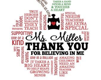 Autism Teacher Appreciation Word Art * * Special Needs * * Digital Image * * DIY Printable * *