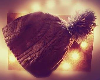 Unique winter hat with Bömmel-hand made