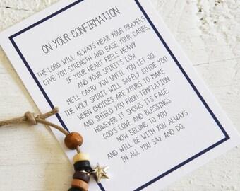 Boys Confirmation bracelet, Confirmation Gift, Boys Cord Bracelet, Confirmation, Boys Bracelet, Gift For Him, Confirmation Boys,