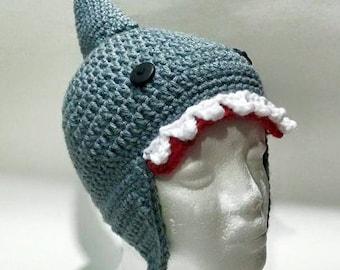 Crochet Shark hat. Crochet Shark beanie. Handmade Shark hat.