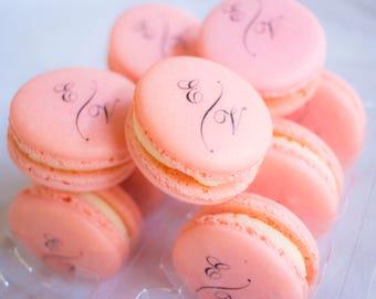 Custom Printed Macarons ( 4 dozen)