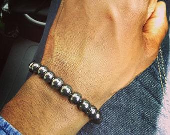 Gunmetal grey bracelet