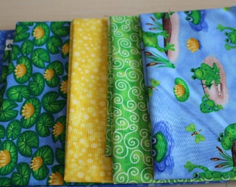 Clearance -5 x 1/2 metres bundle  Frogs by Blank Quilting100% Cotton Patchwork Quilting