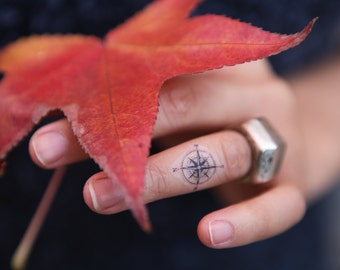 Compass Small - Spirit Ink Temporary Tattoos