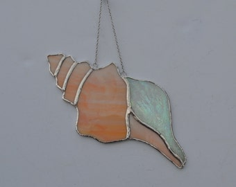 Sea Shell #3 stained glass suncatcher