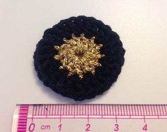 Black and gold rosette flower