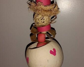 Lovely Bird Treat Holder and Toy/ Valentine's Day Bird Toy