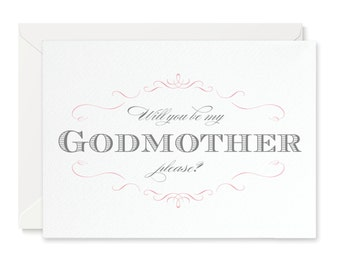 Olivia Will You Be My Godmother? Card