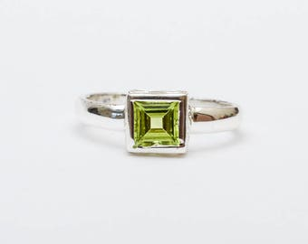 Use Code NEXT0RDER to get 10% off+ Free Shipping Peridot Ring, Peridot Jewelry, Sterling Silver Ring, August Birthstone, Birthday Gift,Rings