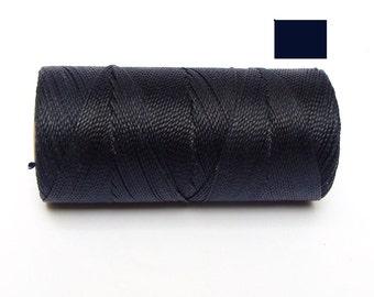 Macrame Cord Dark Blue Waxed Cord Polyester spool of 188 yards