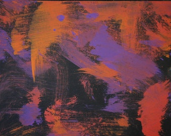 """Painting by a pony """"Fireworks"""" acrylic painting"""