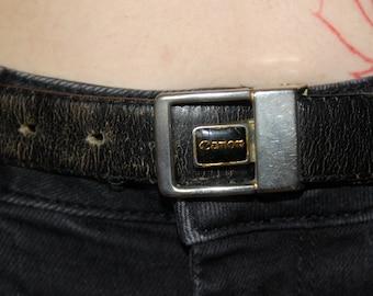 Vintage Black Canon Leather Belt