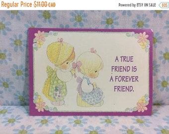 SUMMER SALE 1995 Precious Moments Postcard Paper Ephemera True Friend is a Forever Friend Retro 90s
