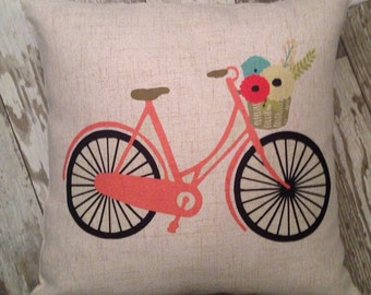 Bicycle pillow cover