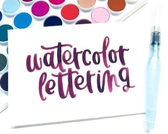Watercolor Lettering Workshop 6/16/18