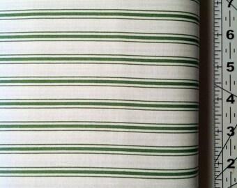 Bakers Dozen Ticking Stripe Green