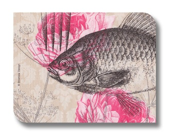 Fish paper napkin for decoupage, mixed media, collage, scrapbooking x 1.  No. 1260