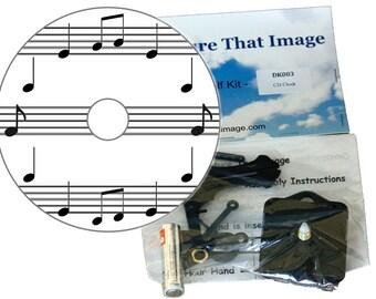 Musical Notes CD Clock Kit