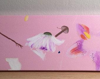 Pink Flower Bath Painting