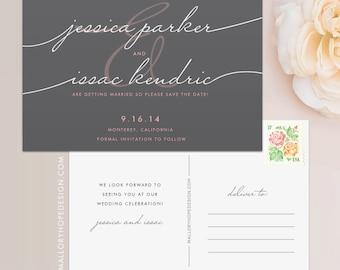 Handwriting Simplicity Save the Date Postcard / Magnet / Flat Card - Wedding Save the Date, Save the Date Magnet, Handwritten Save the Date
