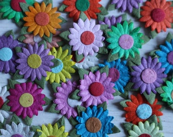 multi coloured paper craft flowers