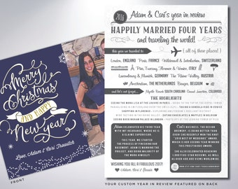 YEAR IN REVIEW | Custom Holiday Cards & Envelopes | Christmas Cards | Merry Christmas | Happy Holidays |  Timeline | Happy New Year