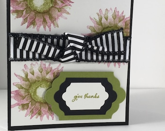 Give Thanks, Thanksgiving, Daisies, Friendship, Family, card, stampin up