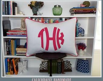 The JUMBO Marchand Applique Monogrammed Pillow Sham - Standard 20 x 26