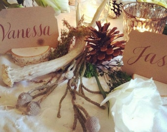 100 Short Stump Birch Branch Place Card Holders for Weddings Special Event
