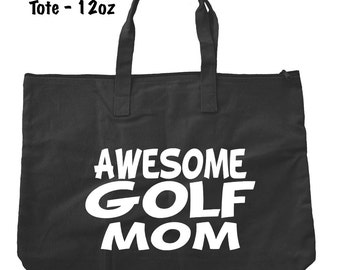 Awesome Golf Mom Tote Bag - Golf Tote Bag - Bags and Totes - Golf Mom Bag - Golf Present - Gifts For Mom