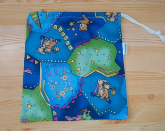 Lunch bag,children bag,animals lunch bag,sandwich bag,boys bag,school bag,clothes bag,fabric bag,lunch pouch,food bag,snack bag