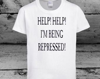 "New ""Help! Help! I'm Being Repressed!"" Monty Python Tee"