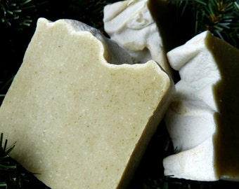 Balsam, Homemade Soap, Natural, Vegan, Balsam, Fir, Essential Oils, Northwoods, 4.5-5 oz.