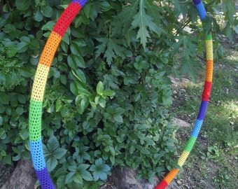 Rainbow or Custom Crochet Hula Hoop Cover