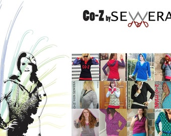 Co-Z Hoodie sewing pattern & instruction by Sewera