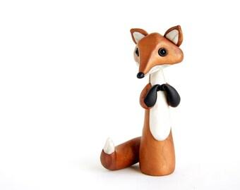 Fox Sculpture - Kitsune by Bonjour Poupette