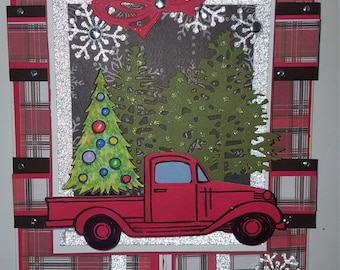 Sending loads of Christmas wishes gatefold greeting card