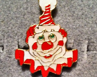 1960s-70s Ringling Bros Barnum Bailey Circus Pin CLOWN HEAD