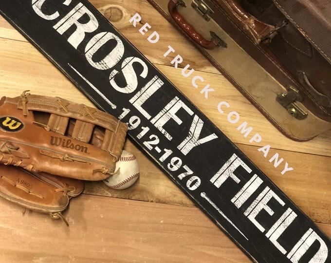Vintage Antique Ball Field sign Baseball Football