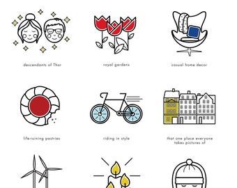 Illustrated Guide to Copenhagen Print