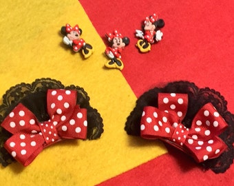 """Pair of """"Minnie"""" Mouse Ear Clips"""